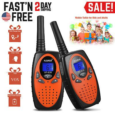 2x 22 Channel Walkie Talkie 2-Way Radio Handheld Interphone Long Range Up to 5km
