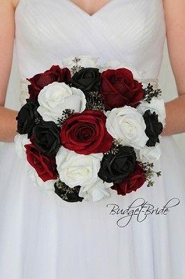Red Black And White Wedding Flowers Ideas Black Wedding Flowers Red Wedding Decorations Red Rose Wedding