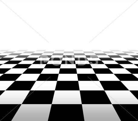 Checkered Background In Perspective Royalty Free 40821034