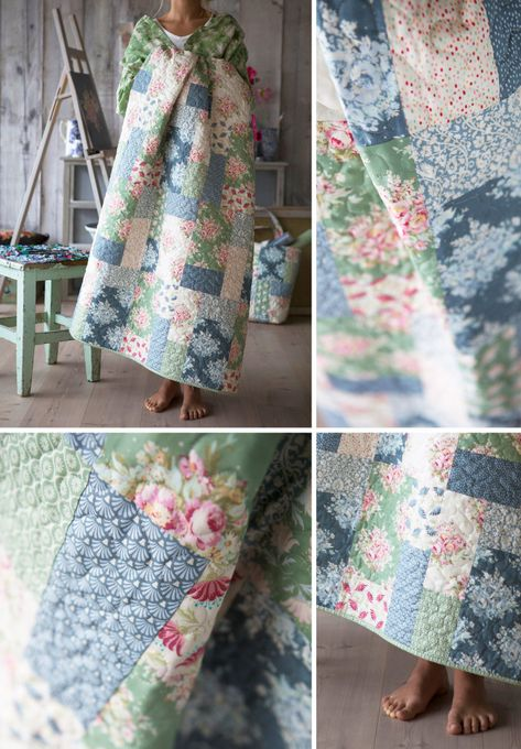 It's always nice to sew a pretty floral quilt for summer, and the Painting Flowers fabrics makes such a fresh summer quilt. The Painting Flowers collection is a limited edition, but the quilt pattern