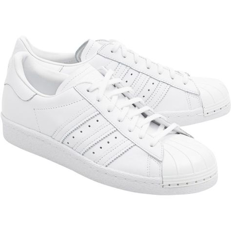 170d1b987343 ADIDAS ORIGINALS Superstar 80S Metal Toe // Sneakers with metal toe...  (1.897.255 IDR) ❤ liked on Polyvore featuring shoes, sneakers, white shoes,  ...