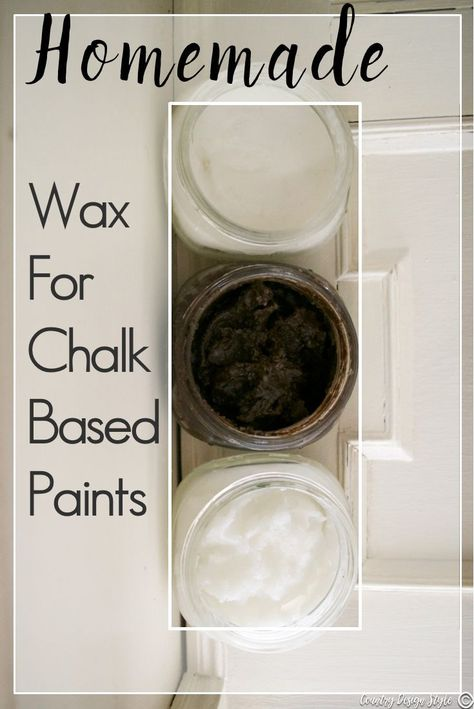 Homemade wax for chalk-based paints - Country Design Style- You will want to try this! How to make homemade wax for chalk based paints. I make a soft wax, harder rubbed wax, and a dark wax for furniture. Diy Chalk Paint Recipe, Make Chalk Paint, Homemade Chalk Paint, Chalk Paint Projects, Chalk Paint Furniture, Furniture Design, Homemade Art, Lego Furniture, Rustic Furniture