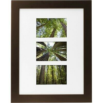 Museum 12 X 16 Matted For Three 4 X 6 Openings Solid Wood Picture Frame Mah Fashion Home Garden Home In 2020 Picture On Wood Wood Picture Frames Picture Frames