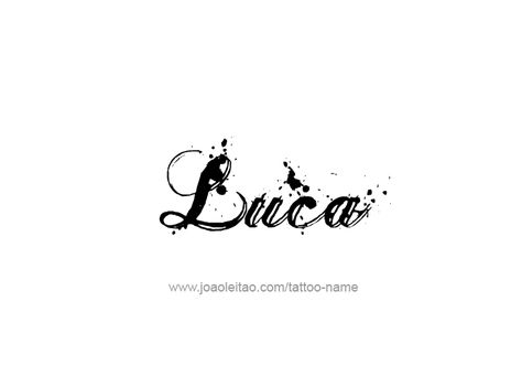 Tattoo Design  Name Luca