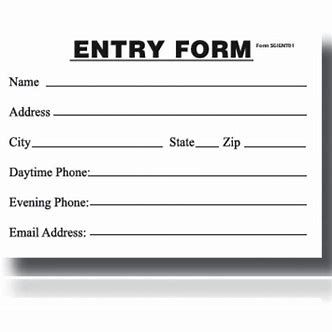 Image Result For Sweepstakes Entry Form Templates Printable Free