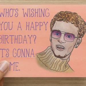 Justin Timberlake Birthday Day Card Etsy Cards Birthday Cards Birthday