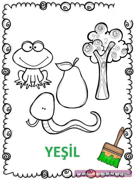 Turuncu Yesil Mor Renk Kartlari Yeni Yuruyen Bebek Aktiviteleri