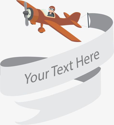 Banner airplane. Pinterest cartoon vectorbanner clipartcartoon