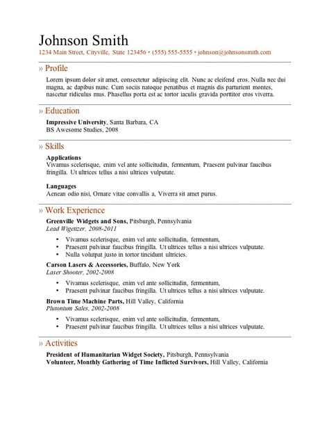 basic resumes - Google Search RESUMES Pinterest Microsoft - exercise science resume