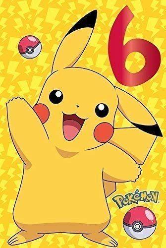 Auguri Di Buon Compleanno 6 Anni.Pokemon 6 Anni Compleanno Biglietti Di Auguri Biglietti Di