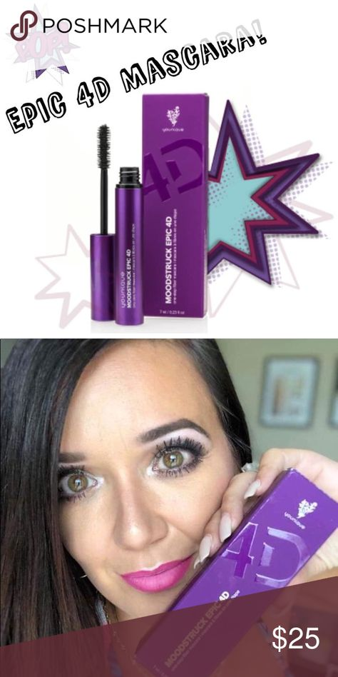 ce6ca886eb0 4D MASCARA IN STOCK Younique 4D Mascara BACK IN STOCK! Makes your lashes go  from needing falsies to never needing them again! The extra fibers make all  the ...