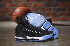 bb30a2ade9b81 Nike LeBron 16 HFR Harlem's Black White Men's Basketball Shoes ...