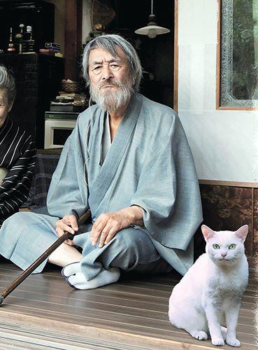 熊谷守一を演じる山崎努さん ©2017「モリのいる場所」製作委員会