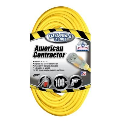 Southwire 100 Ft 14 3 Sjeo Outdoor Medium Duty T Prene Extension Cord With Power Light Plug 14990002 The Home Depot Extension Cord Outdoor Extension Cord Plugs