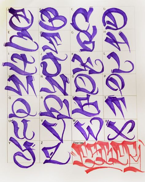 Graffiti Letters 61 graffiti artists share their styles Bombing Science Tattoo Lettering Styles, Graffiti Lettering Fonts, Graffiti Lettering Alphabet, Lettering Alphabet, Lettering Design, Lettering Styles, Graffiti Lettering