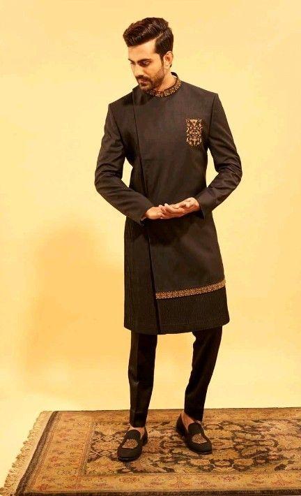 Side Pattern Designer Suits For Men Indian Men Fashion Mens Kurta Designs
