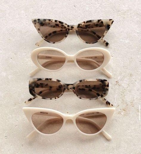 Cream Aesthetic, Classy Aesthetic, Brown Aesthetic, Aesthetic Vintage, Cute Sunglasses, Trending Sunglasses, Sunnies, Vintage Sunglasses, Cat Eye Sunglasses