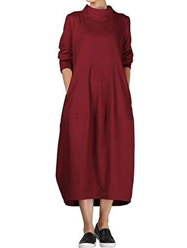 Short Sleeve Pleated Midi Dress with Pockets Burgundy