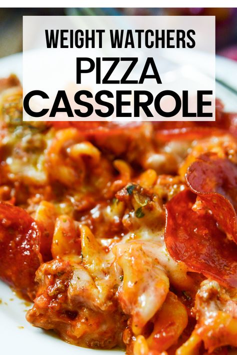 This pepperoni pizza casserole is and easy delicious and low point recipe for all WW plans You can eat this for just 3 smartpoints on blue purple and green Weight Watchers plans ww weightwatchers casserolerecipes wwblue wwgreen wwpurple Weight Watchers Casserole, Pizza Weight Watchers, Plats Weight Watchers, Weight Watchers Meal Plans, Weight Watchers Freezer Meals, Weight Watchers Chili, Weight Watchers Points, Weight Watcher Desserts, Weight Watcher Dinners