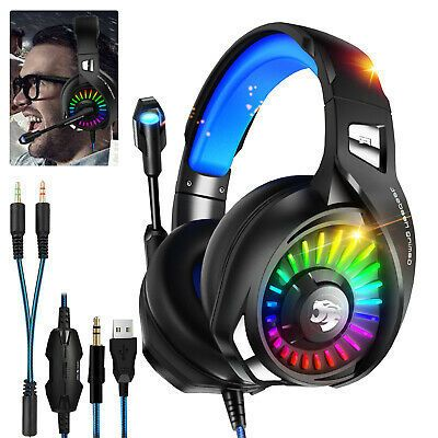 Gaming Headset Stereo Surround Headphone 3 5mm Wired Mic For Ps4 Laptop Xbox One Headphones Gaming Headset Bluetooth Headphones Wireless