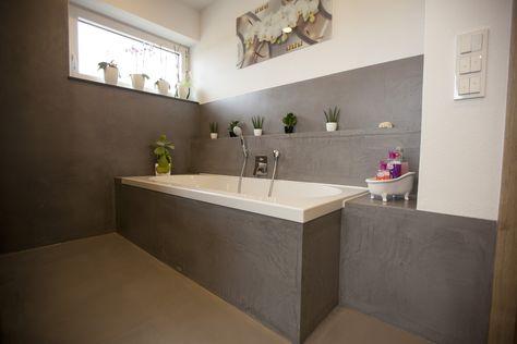 Fugenloses Bad, komplett ohne Fliesen mit DRACHOLIN Cosmato ...