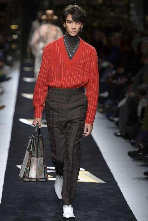 Fendi Fall-Winter 2019 - Milán Fashion Week #menswearstyles