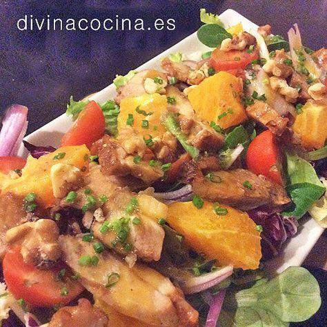 Esta ensalada de pollo con naranja puede aderezarse también con una vinagreta de soja. Prepara una vinagreta de aceite de oliva y vinagre balsámico, añade un chorrito de salsa de soja al gusto y unas semillas de sésamo.