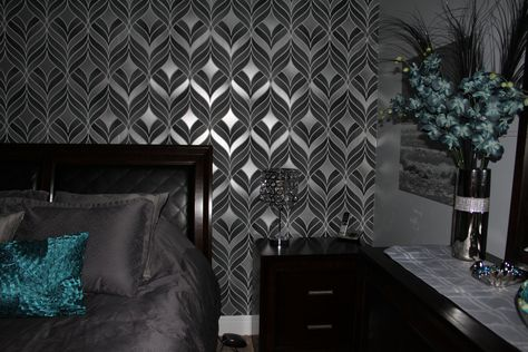 Silver And Teal Bedroom | Teal Silver Bedroom | Pinterest | Teal, Bedrooms  And Silver Wallpaper