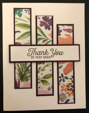 Stampin' Up! Frosted Florals Specialty Designer Series Paper, One Sheet Wonder, Stampin' Studio Stampin' Up! Frosted Florals Specialty Designer Series Paper, One Sheet Wonder, Stampin' Studio Handmade Thank You Cards, Greeting Cards Handmade, Neli Quilling, Karten Diy, Making Greeting Cards, Stamping Up Cards, Card Patterns, Card Sketches, Paper Cards