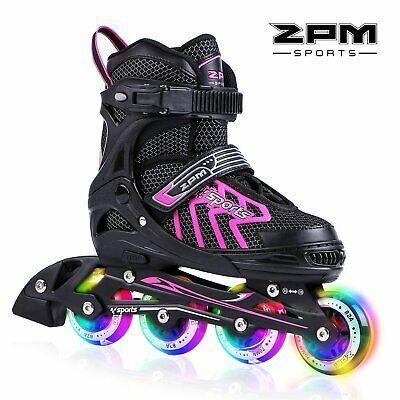 Advertisement Ebay 2pm Sports Brice Pink Adjustable Illuminating Inline Skates With Full Light U Patinaje En Línea Zapatos Para Niñas Patines Para Niños