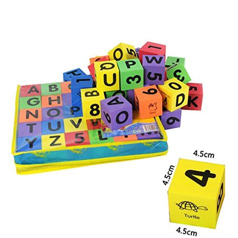 30pcs Soft EVA Foam Building Blocks Toy Number /& Letter Baby Teaching Tools