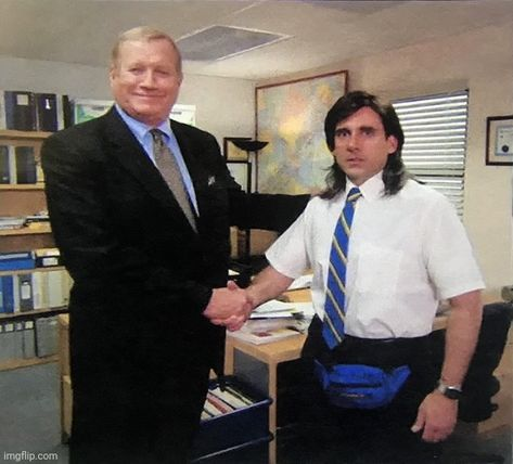 Image tagged in the office handshake