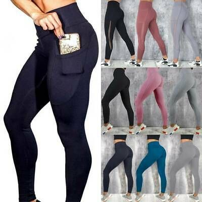 Advertisement Ebay Womens Yoga Pants High Waist Fitness Leggings Train Gym Exercise Sports Trousers Yoga Pants Women Sports Trousers Yoga Women