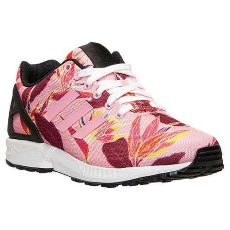 huge discount 3f232 43919 Mens adidas ZX Flux Floral Print Casual Shoes - B34520 PNK  Finish Line