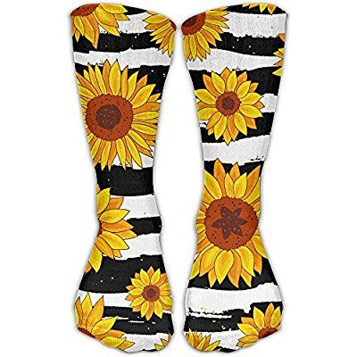 buy best new arrive finest selection Amazon.com: Striped Black And White Sunflower Personalized ...