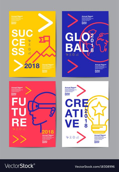 View this Annual Report 2018 Future Business Template Layout Design Cover Book Vector Colorful Infographic Abstract Flat Background stock photo.