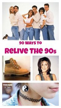 90 Ways to Relive the 90s - This will make you relive your glory days.... you will laugh, cry and make you want to binge watch Friends all over again!  #Friends #style #90s #fashion