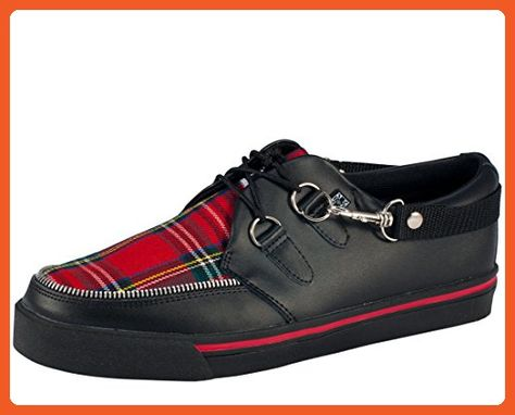 4393829b02cf6b T.U.K. Unisex A6155 Bondage Sneaker,Black/Red Plaid ,Men's 12 M/Women's 14  M - Sneakers for women (*Amazon Partner-Link)