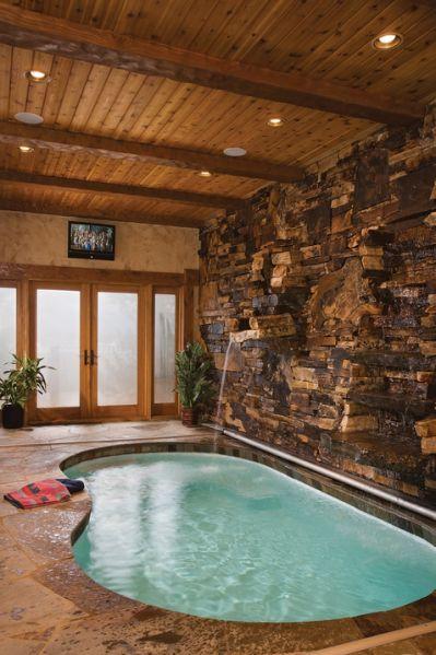 Awesome 40 Inside House Pool Design Casas Com Piscina Indoor