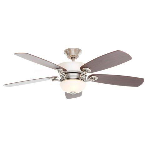 Hampton Bay Minorca 52 In Indoor Brushed Nickel Ceiling Fan