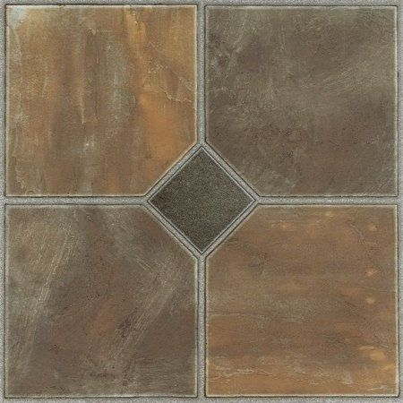 Achim Nexus Self Adhesive Vinyl Floor Tile 20 Tiles 20 Sq Ft 12 X 12 Rustic Slate Walmart Com Vinyl Flooring Luxury Vinyl Tile Vinyl Tile