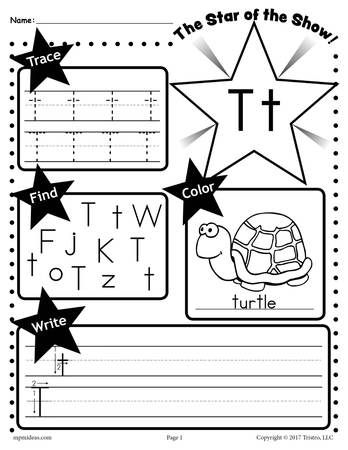 26 Alphabet Worksheets Tracing Coloring Writing More Letter T Worksheets Letter R Worksheet Letter T Worksheet Preschool letter worksheets free