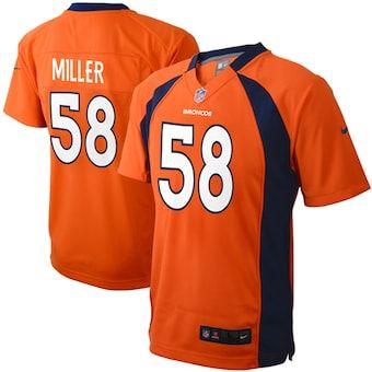 Preschool Denver Broncos Von Miller Nike Orange Game Jersey In 2020 Nfl Jerseys For Sale Denver Broncos Von Miller Nfl Football Jersey