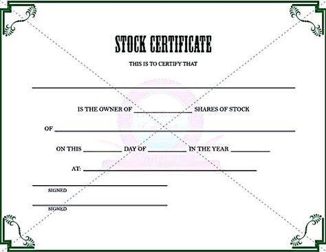 ShareStock Certificate Template  Sample Templates  Sample Stock