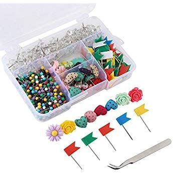 Push Pins Sets, 7 Kinds and Various Colors Thumb Tacks, 1/8 ... Clear Map Pins on clear map jackets, clear china map, clear map tacks, clear spray adhesive, clear glitter, clear map of germany, clear acrylic, clear hat pins, clear push pins, clear world map,