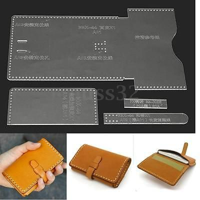 Clear acrylic leather template set for diy leathercraft leather clear acrylic leather template set for diy leathercraft leather wallet pattern leather wallet pattern wallet pattern and clear acrylic pronofoot35fo Image collections