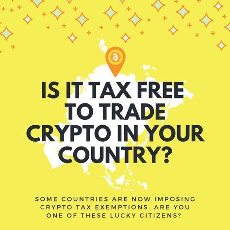 Countries to trade crypto tax free