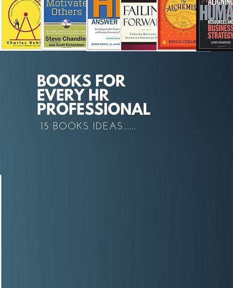 15 Books that Every HR Professional Should Read | Books To Read