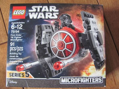 New LEGO STAR WARS Microfighters First Order Tie Fighter 75194  Disney 91-pcs