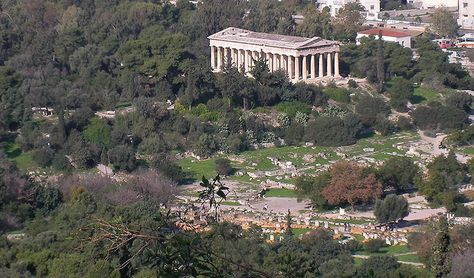 Ancient Agora Of Athens Historical Landmark In Athens Greece The